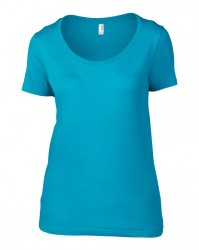 Image 7 of Anvil Ladies Featherweight Scoop Neck T-Shirt