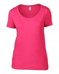 Image 13 of Anvil Ladies Featherweight Scoop Neck T-Shirt