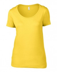 Image 11 of Anvil Ladies Featherweight Scoop Neck T-Shirt