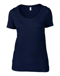 Image 5 of Anvil Ladies Featherweight Scoop Neck T-Shirt