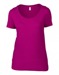 Image 6 of Anvil Ladies Featherweight Scoop Neck T-Shirt