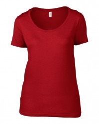 Image 14 of Anvil Ladies Featherweight Scoop Neck T-Shirt