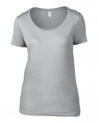 Image 8 of Anvil Ladies Featherweight Scoop Neck T-Shirt