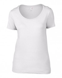Image 3 of Anvil Ladies Featherweight Scoop Neck T-Shirt