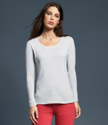 Anvil Ladies Featherweight Long Sleeve Scoop Neck T-Shirt image