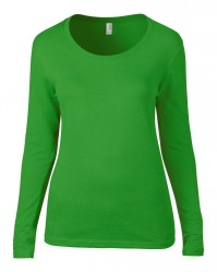 Image 2 of Anvil Ladies Featherweight Long Sleeve Scoop Neck T-Shirt