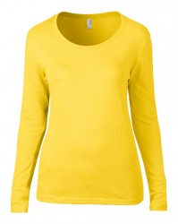 Image 11 of Anvil Ladies Featherweight Long Sleeve Scoop Neck T-Shirt