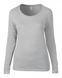 Image 7 of Anvil Ladies Featherweight Long Sleeve Scoop Neck T-Shirt