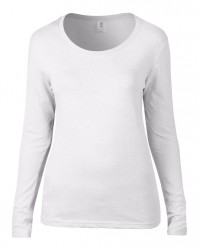 Image 9 of Anvil Ladies Featherweight Long Sleeve Scoop Neck T-Shirt
