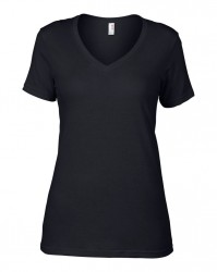 Image 11 of Anvil Ladies Featherweight V Neck T-Shirt