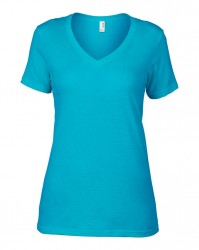 Image 2 of Anvil Ladies Featherweight V Neck T-Shirt