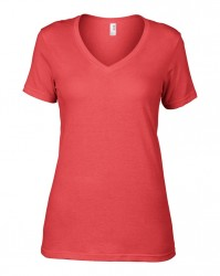 Image 13 of Anvil Ladies Featherweight V Neck T-Shirt