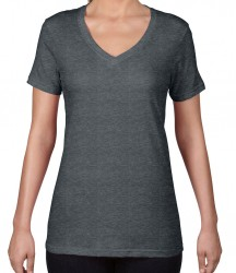 Image 4 of Anvil Ladies Featherweight V Neck T-Shirt
