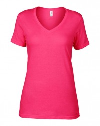 Image 5 of Anvil Ladies Featherweight V Neck T-Shirt