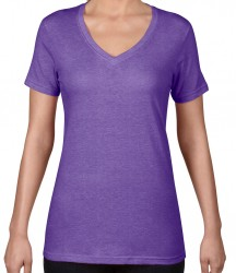 Image 6 of Anvil Ladies Featherweight V Neck T-Shirt