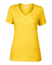 Image 7 of Anvil Ladies Featherweight V Neck T-Shirt
