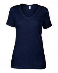Image 8 of Anvil Ladies Featherweight V Neck T-Shirt