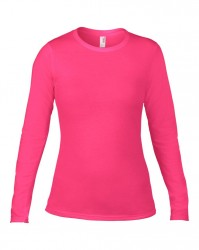 Image 8 of Anvil Ladies Fashion Basic Long Sleeve Fitted T-Shirt