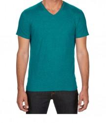 Image 8 of Anvil Tri-Blend V Neck T-Shirt
