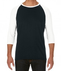 Image 2 of Anvil Tri-Blend 3/4 Sleeve Raglan T-Shirt