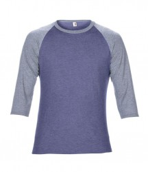 Image 5 of Anvil Tri-Blend 3/4 Sleeve Raglan T-Shirt