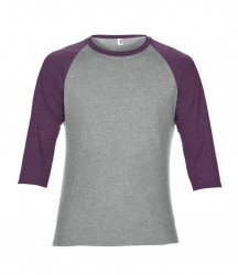 Image 6 of Anvil Tri-Blend 3/4 Sleeve Raglan T-Shirt