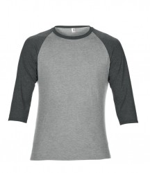 Image 8 of Anvil Tri-Blend 3/4 Sleeve Raglan T-Shirt