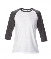 Image 12 of Anvil Tri-Blend 3/4 Sleeve Raglan T-Shirt