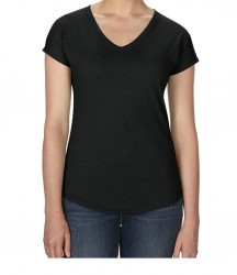 Image 7 of Anvil Ladies Tri-Blend V Neck T-Shirt