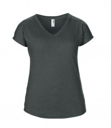 Image 12 of Anvil Ladies Tri-Blend V Neck T-Shirt