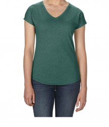 Image 13 of Anvil Ladies Tri-Blend V Neck T-Shirt