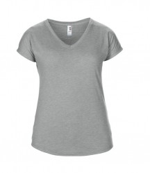 Image 14 of Anvil Ladies Tri-Blend V Neck T-Shirt