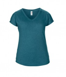 Image 15 of Anvil Ladies Tri-Blend V Neck T-Shirt