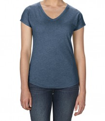 Image 7 of Anvil Ladies Tri-Blend V Neck T-Shirt