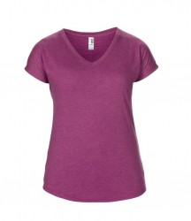 Image 6 of Anvil Ladies Tri-Blend V Neck T-Shirt