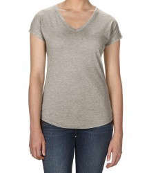 Image 8 of Anvil Ladies Tri-Blend V Neck T-Shirt