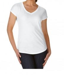Image 5 of Anvil Ladies Tri-Blend V Neck T-Shirt