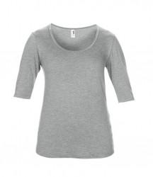 Image 7 of Anvil Ladies Tri-Blend 1/2 Sleeve T-Shirt