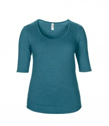 Image 6 of Anvil Ladies Tri-Blend 1/2 Sleeve T-Shirt