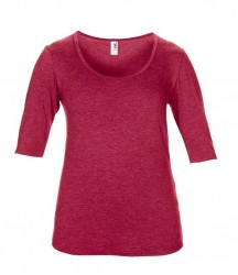 Image 5 of Anvil Ladies Tri-Blend 1/2 Sleeve T-Shirt