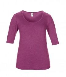 Image 12 of Anvil Ladies Tri-Blend 1/2 Sleeve T-Shirt