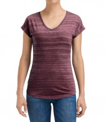 Image 1 of Anvil Ladies Streak V Neck T-Shirt