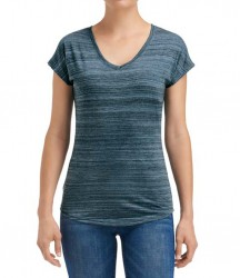 Image 2 of Anvil Ladies Streak V Neck T-Shirt