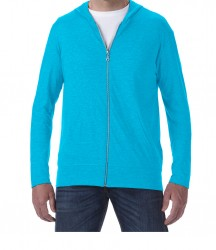 Image 8 of Anvil Tri-Blend Hooded Jacket