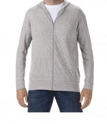 Image 6 of Anvil Tri-Blend Hooded Jacket