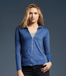 Anvil Ladies Tri-Blend Hooded Jacket image