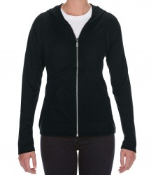 Image 2 of Anvil Ladies Tri-Blend Hooded Jacket