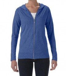Image 7 of Anvil Ladies Tri-Blend Hooded Jacket