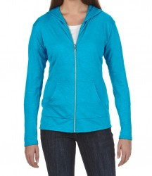 Image 6 of Anvil Ladies Tri-Blend Hooded Jacket