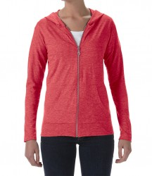 Image 3 of Anvil Ladies Tri-Blend Hooded Jacket